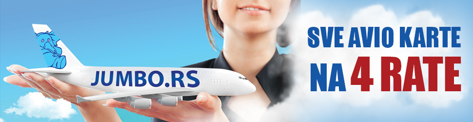 Avio karte na rate bez kamate. Sve ponude avio karata na jednom mestu, u Jumbo Travel-u