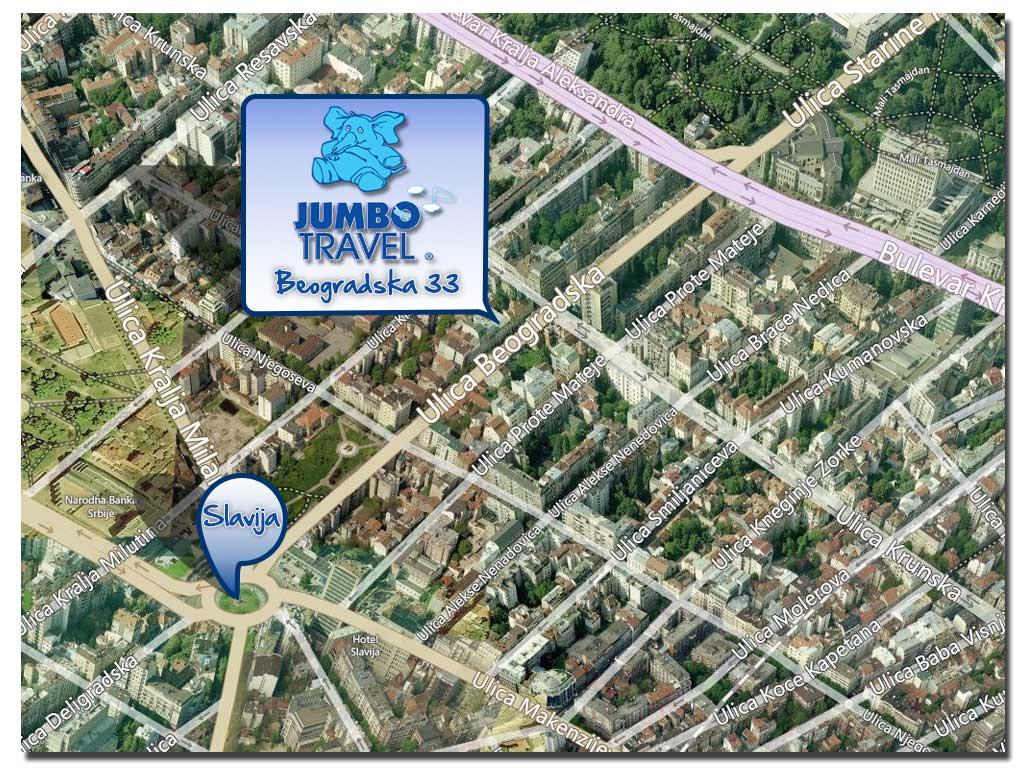 bing mapa beograda Jumbo Slavija • Jumbo Travel bing mapa beograda