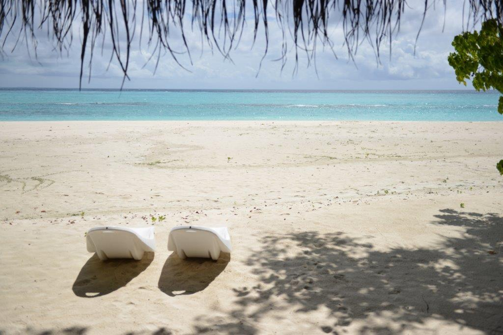 Maldivi jutarnji pogled iz sobe