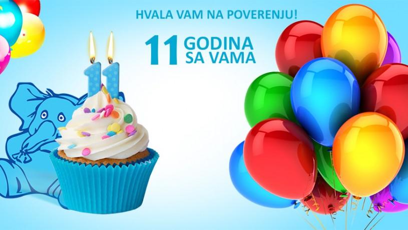 11 rođendan 11. rođendan Jumbo Travela ! Hvala Vam na poverenju • Jumbo Travel 11 rođendan
