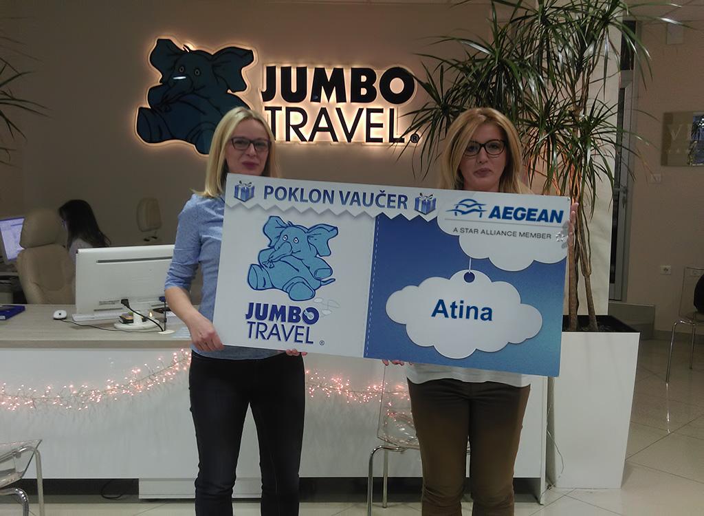 Izvučen pobednik kviza Aegean i Jumbo travel Vas vode u Atinu