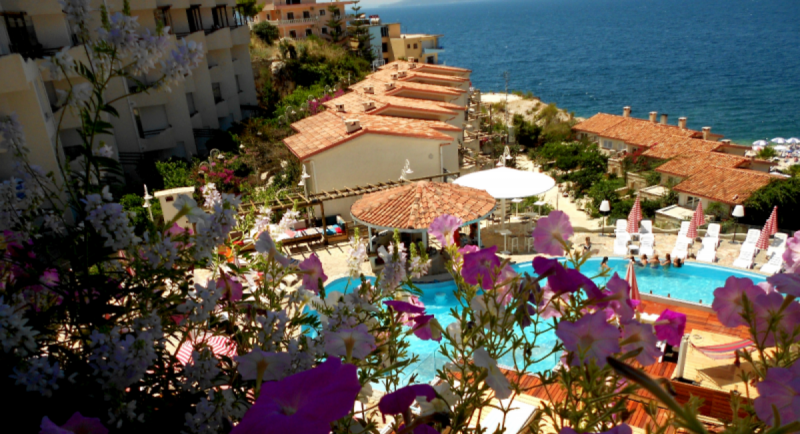 Bougainvillebay hotel-Sarande-Jumbo Travel-r pool overview