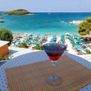 Albanija, letovanje, hotel King Ksamil, bar na plazi