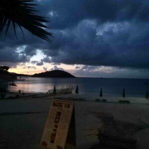 Albanija, letovanje, hotel King Ksamil, zalazak sunca na plazi