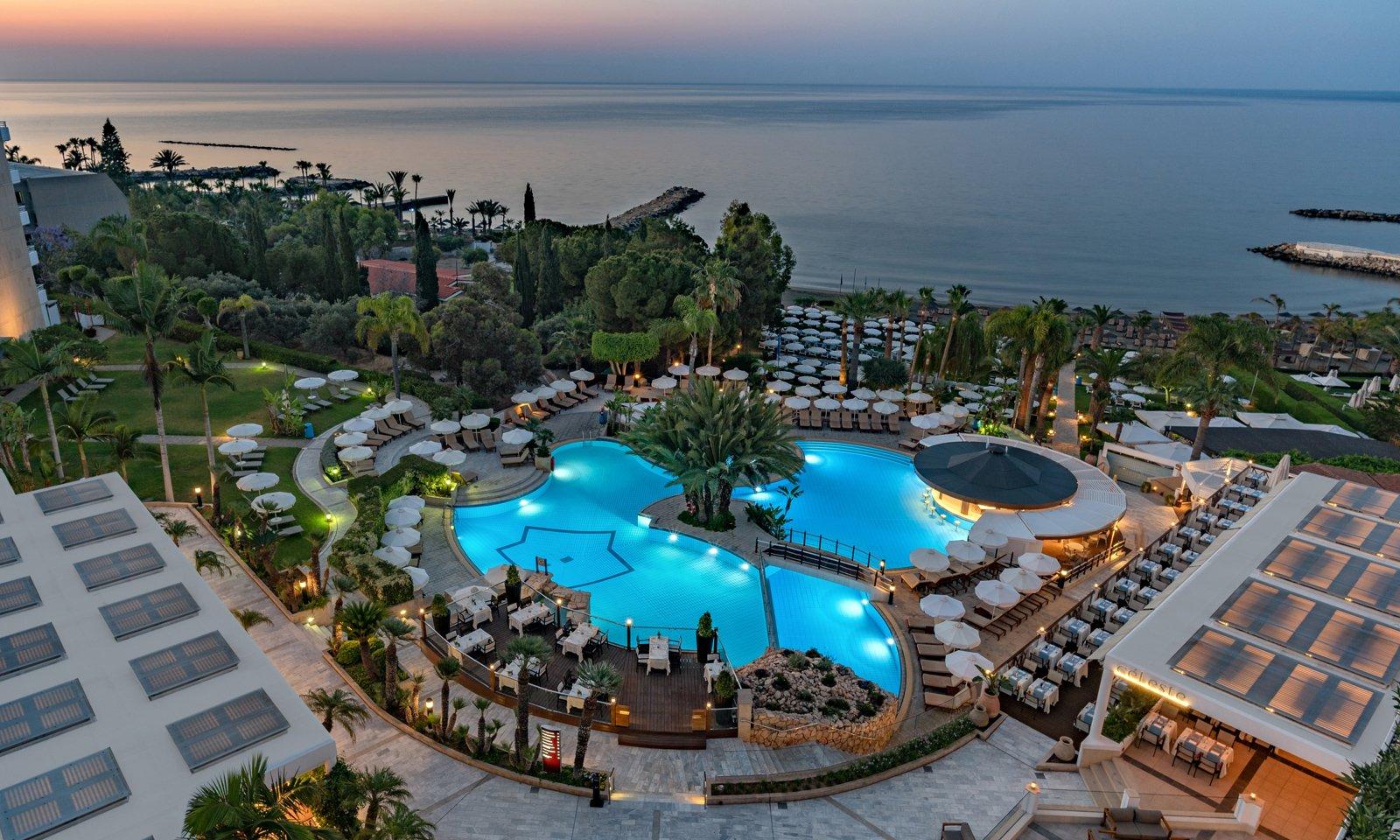 Mediterranean Beach Hotel 4-Limassol-Jumbo Travel-pool overview