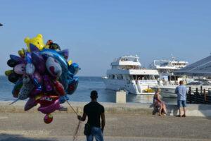 Pafos, Kipar - baloni na šetalištu