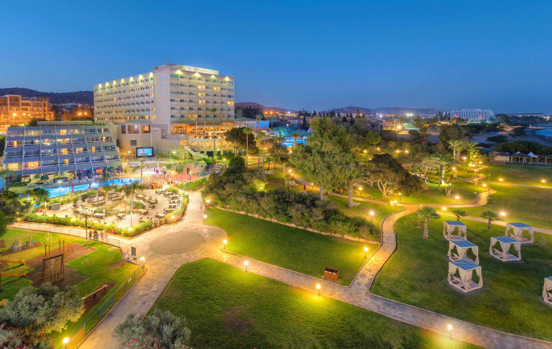 St Raphael Hotel-Jumbo Travel-overview night